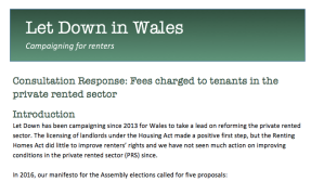Let Down in Wales thumbnail of fees response
