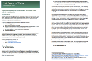 Let Down Welsh Gov consultation on fees